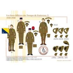 Les Sous-Officiers des Troupes de Forteresse (2), 1935-1940