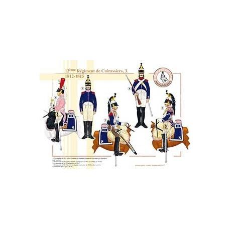 12ème régiment de Cuirassiers (3), 1812-1815