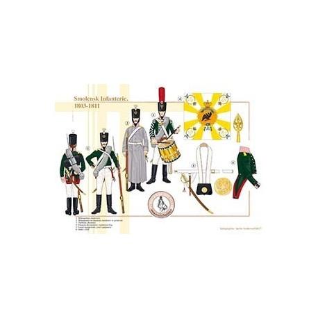 Smolensk Infanterie, 1803-1811