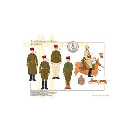 Les Chasseurs d'Afrique, 1930-1940