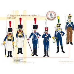 1er Régiment d'Infanterie Légère (3), 1813-1815