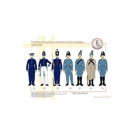 Gardiens des prisons, maisons d'arrêt et bagnes, 1830-1849