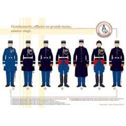Gendarmerie, officier en grande tenue, années vingt