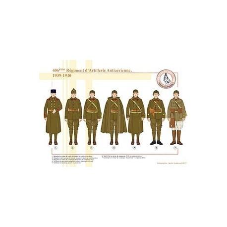 406ème Régiment d'Artillerie Antiaérienne, 1939-1940