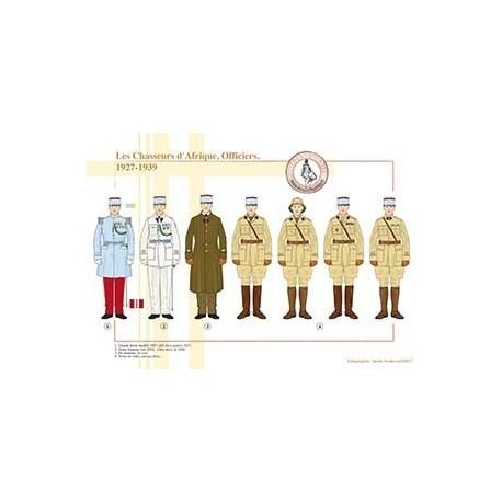 Les Chasseurs d'Afrique, Officiers, 1927-1939