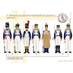 L'Infanterie de Ligne du Grand Duché de Varsovie (3), 1808-1812