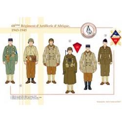 68ème Régiment d'Artillerie d'Afrique, 1943-1945