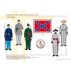 Infanterie de l'État de Georgie, CSA, 1861-1865