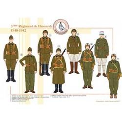 3ème Régiment de Hussards, 1940-1942