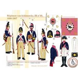 Régiment von Schimonsky, IR n°40, 1800-1807