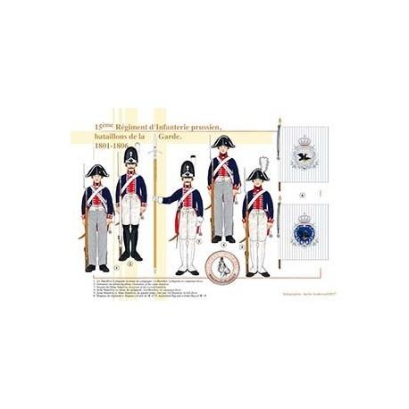 15ème Régiment d'Infanterie prussien, bataillons de la Garde, 1801-1806
