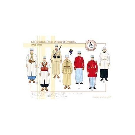 Les Sahariens, Sous-Officiers et Officiers, 1905-1950