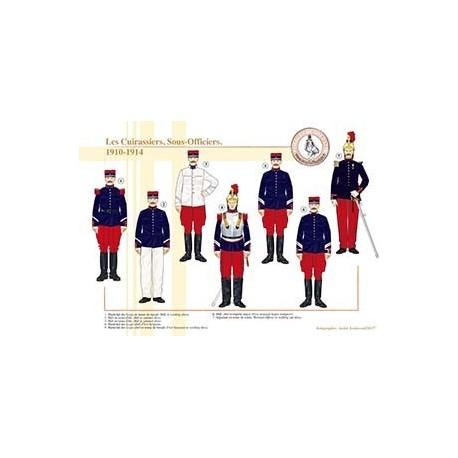 Les Cuirassiers, Sous-Officiers, 1910-1914