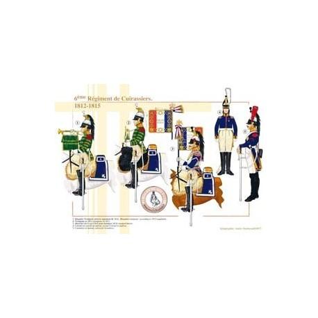 6ème Régiment de Cuirassiers, 1812-1815