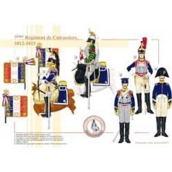 7ème Régiment de Cuirassiers, 1812-1815