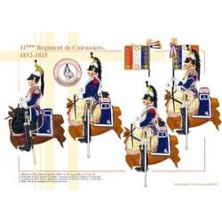 11ème Régiment de Cuirassiers, 1812-1815