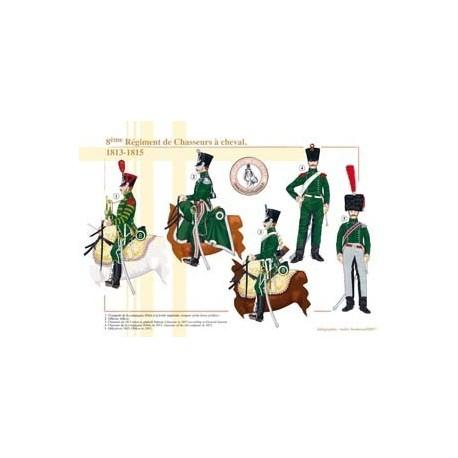 8ème Régiment de Chasseurs à cheval, 1813-1815