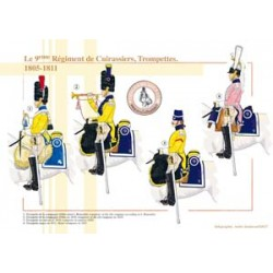 Le 9ème Régiment de Cuirassiers, Trompettes, 1805-1811