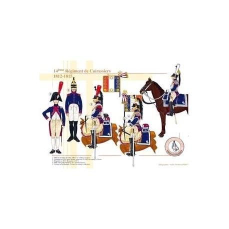 14ème Régiment de Cuirassiers, 1812-1815