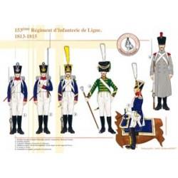 153ème Régiment d'Infanterie de Ligne, 1813-1815
