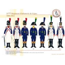 21ème Régiment d'Infanterie de Ligne, 1806-1812