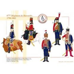 Le 6ème Régiment de Hussards, 1790-1802