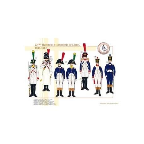 Le 22ème Régiment d'Infanterie de Ligne, 1806-1812