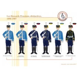 Les Hussards Prussiens, distinctives, 1890-1907