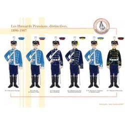Os Hussars prussianos, distintivo, 1890-1907