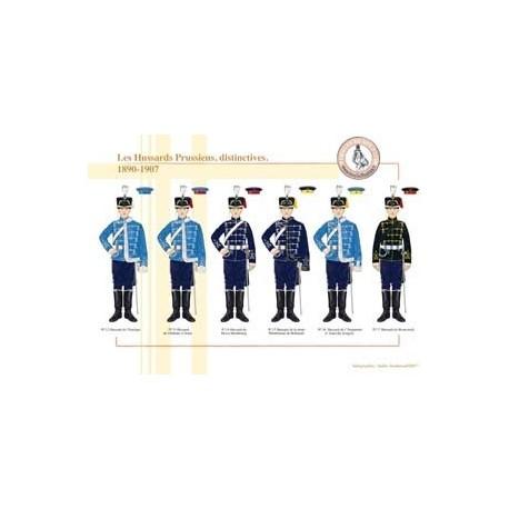 Die Preußen-Husaren, unterscheidend , 1890-1907