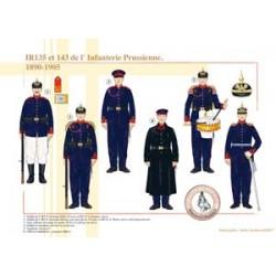 IR135 et 143 de l'Infanterie Prussienne, 1890-1905