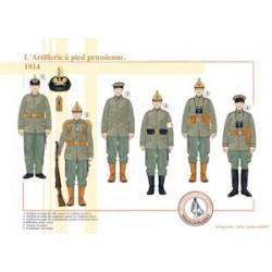 L'Artillerie à pied prussienne, 1914