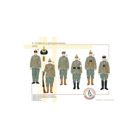 Der preußische Artillerie Fuß 1914