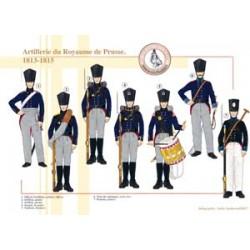 Artillerie du Royaume de Prusse, 1813-1815