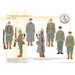 La fanteria prussiana (2), 1907-1914
