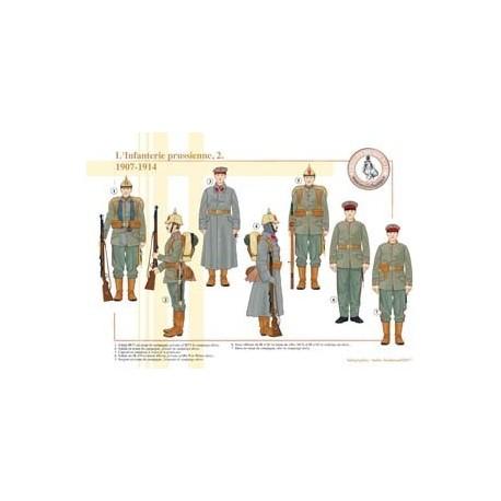 L'Infanterie prussienne (2), 1907-1914