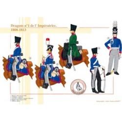 Dragons n°1 de l'Impératrice, 1808-1813
