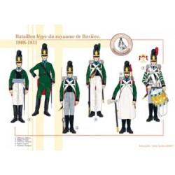 Bataillon léger du royaume de Bavière, 1808-1811