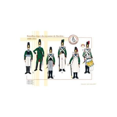 Lichtbataillon des Königreichs Bayern, 1808-1811