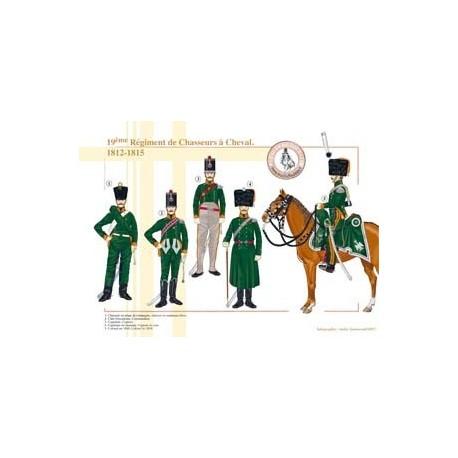 19ème Régiment de Chasseurs à cheval, 1812-1815
