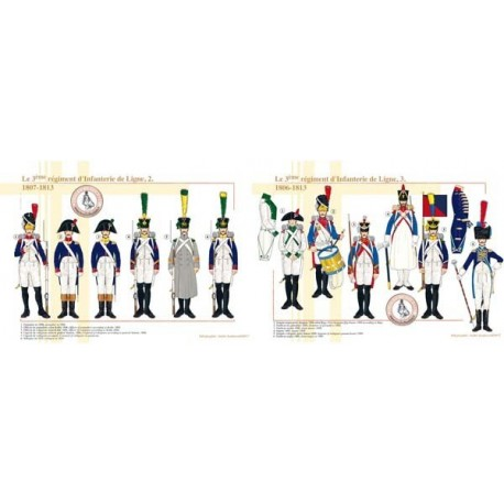 Das 3. Linien Infanterie-Regiment, 1807-1813 (2 und 3)