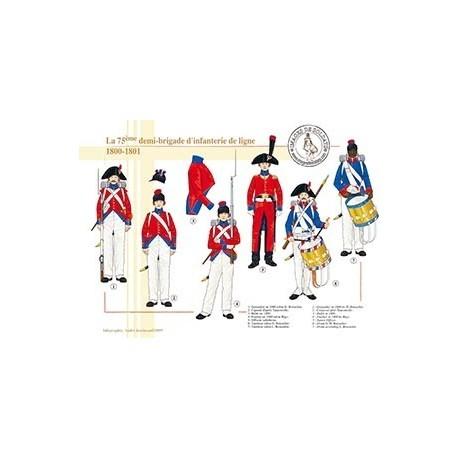 La 75ème demi-brigade d'infanterie de ligne en Egypte, 1800-1801