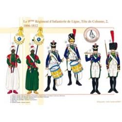 Le 9ème Régiment d'Infanterie de Ligne, Tête de Colonne (2), 1806-1812