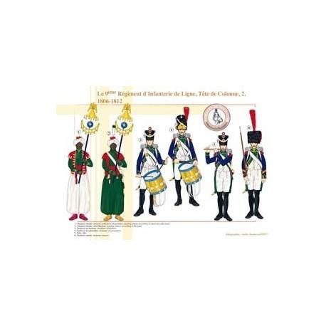 Das 9. Linie Infanterie-Regiment, Säulenkopf (2), 1806-1812