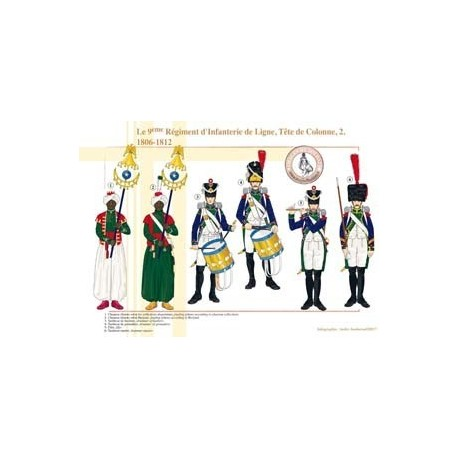 The 9th Line Infantry Regiment, Column Head (2), 1806-1812