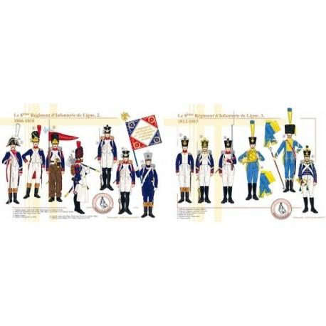 Le 8ème Régiment d'Infanterie de Ligne, 1806-1815 (2 et 3)