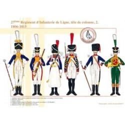 27ème Régiment d'Infanterie de Ligne, tête de colonne (2), 1806-1812