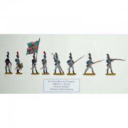 Grenadiere von Fanagorie, Russische Armee von Alexander I, an der Schlacht von Austerlitz am 2. Dezember 1805