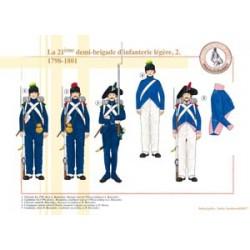 La 21ème demi-brigade d'infanterie légère (2), 1798-1801