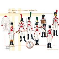 Le 3ème Régiment d'Infanterie de Ligne Hollandais, 1807-1812